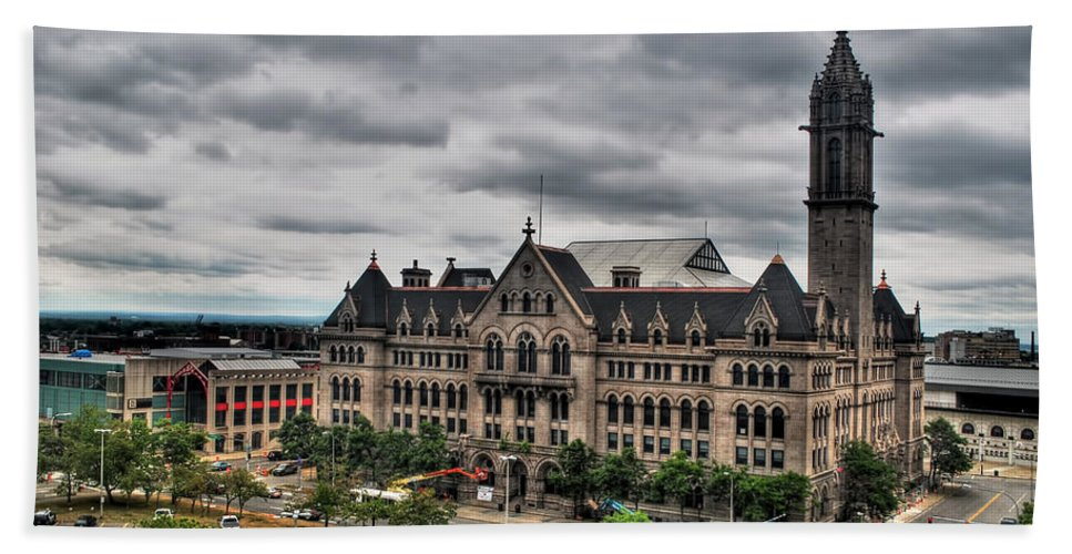 Bath Sheet featuring the photograph Erie Community College City Campus by Michael Frank Jr