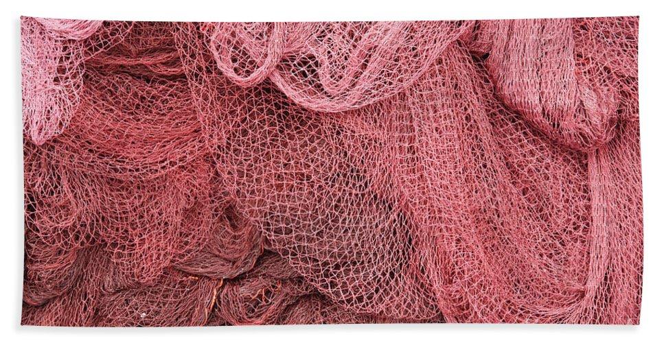 Net Bath Sheet featuring the photograph Fishing Nets by Gaspar Avila