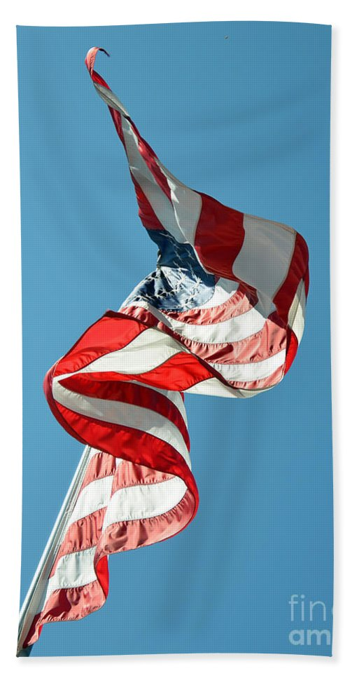 Abstract Hand Towel featuring the photograph Flagged by Lauren Leigh Hunter Fine Art Photography