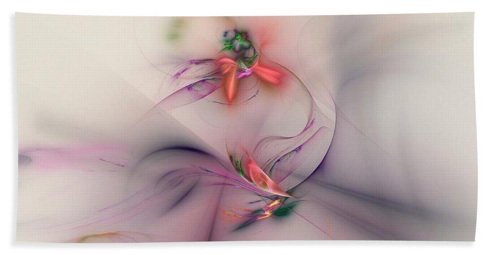 Flower Hand Towel featuring the digital art Flower In The Wind by Klara Acel