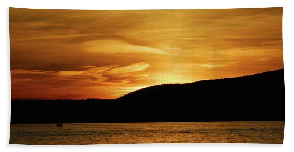 acadia National Park Hand Towel featuring the photograph Flying Home by Paul Mangold