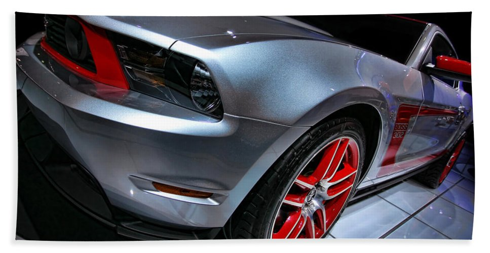 2011 Bath Towel featuring the photograph Ford Mustang - Boss 302 by Gordon Dean II