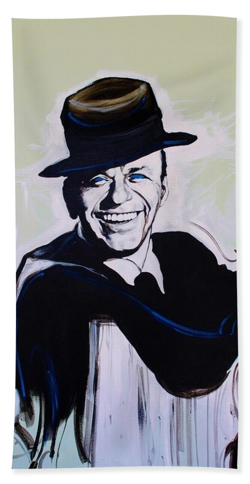 Frank Sinatra Hand Towel featuring the photograph Frank by Rob Hans