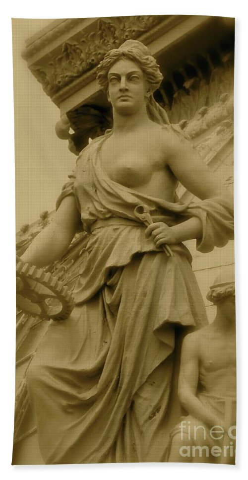 Statue Bath Sheet featuring the photograph Goddess by Rick Monyahan