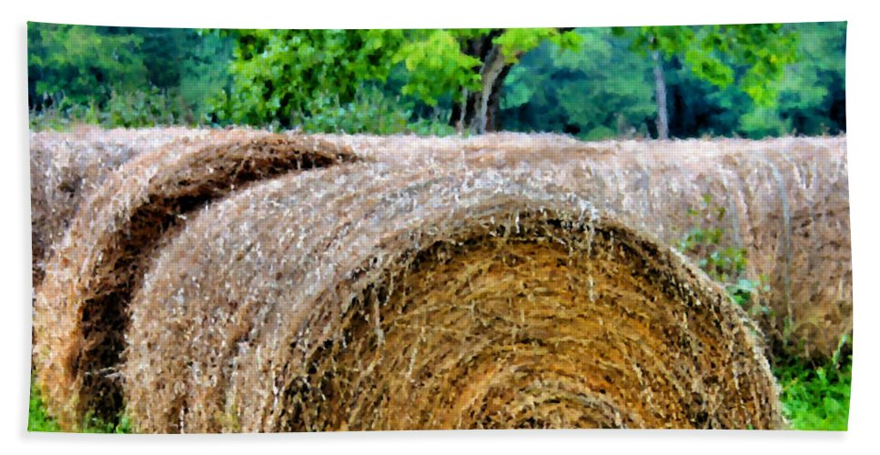 Hay Bath Sheet featuring the photograph Hay Rolls by Kristin Elmquist