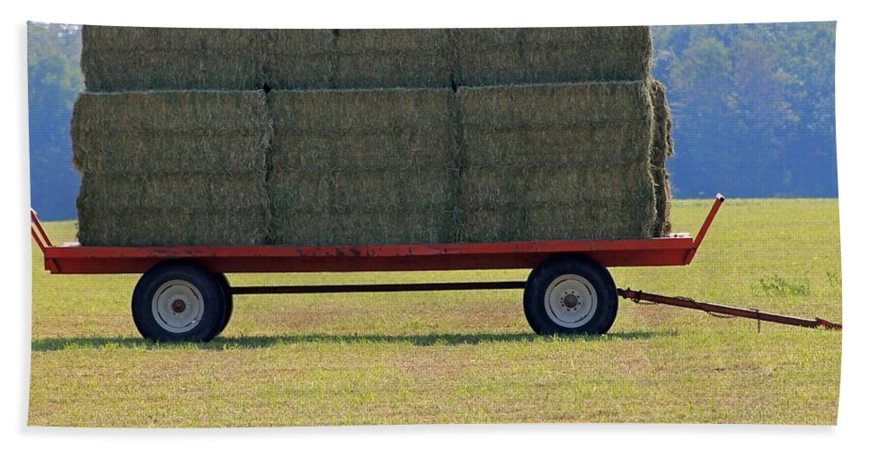Farm Hand Towel featuring the photograph Hay Wagon by J McCombie