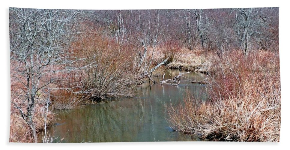 New York Hand Towel featuring the photograph Headwaters by Christian Mattison