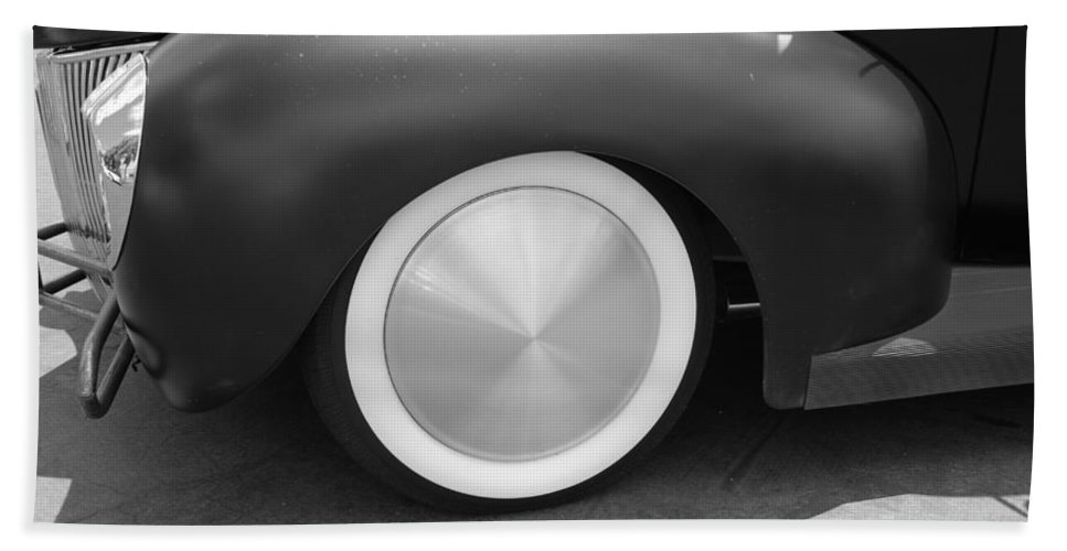 Hot Rod Hand Towel featuring the photograph Hot Rod Wheel by Rob Hans