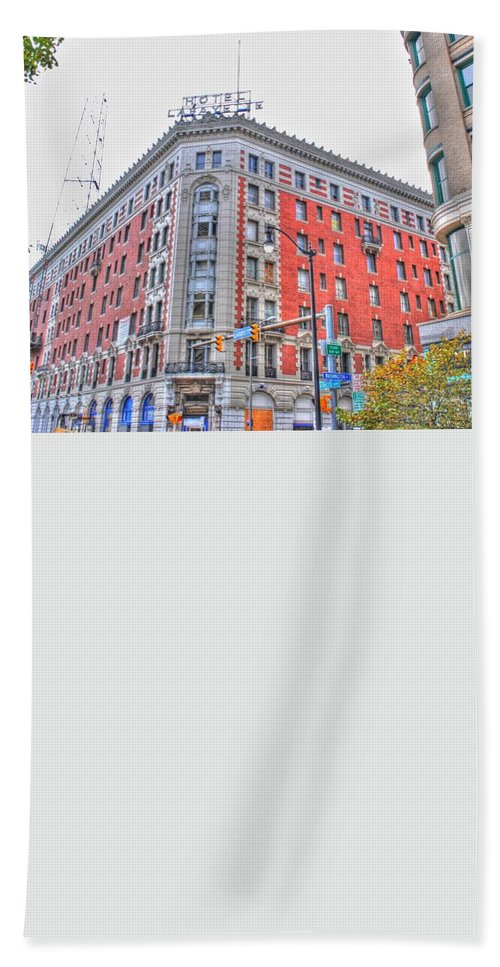 Bath Sheet featuring the photograph Hotel Lafayette by Michael Frank Jr