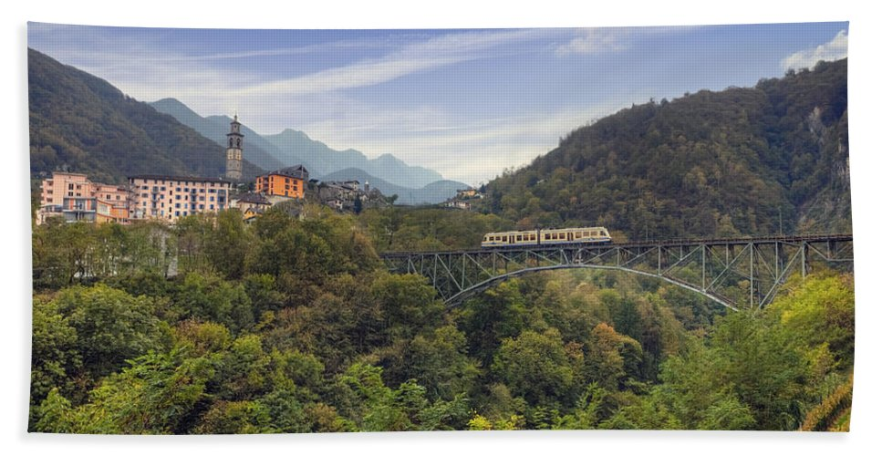 Intragna Hand Towel featuring the photograph Intragna - Ticino by Joana Kruse