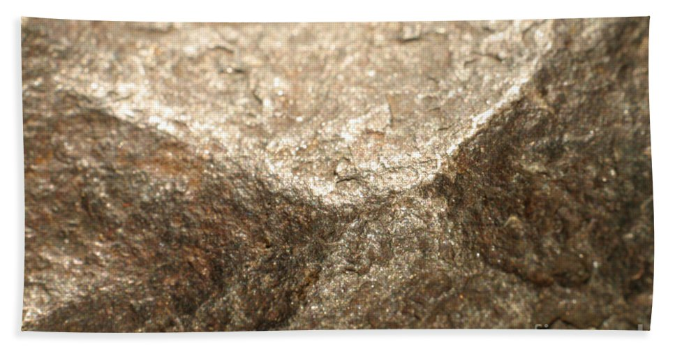 Meteor Hand Towel featuring the photograph Iron-nickel Meteorite by Ted Kinsman