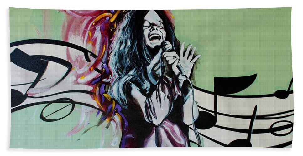 Janis Joplin Hand Towel featuring the photograph Janis by Rob Hans