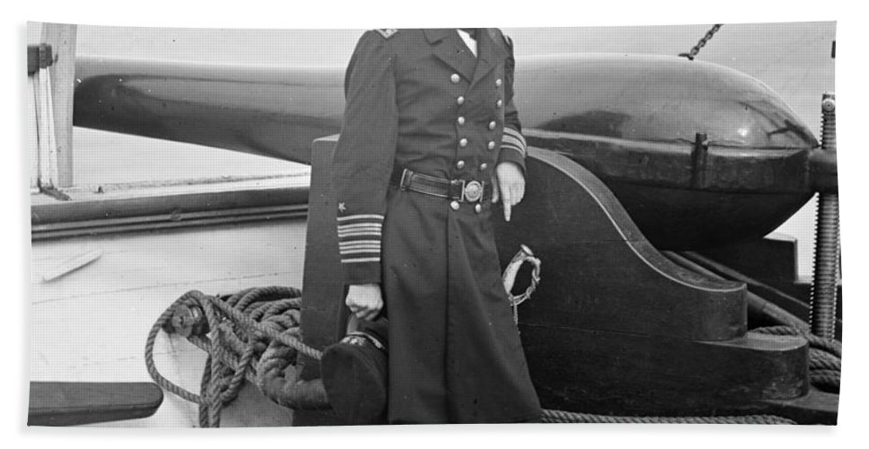 History Hand Towel featuring the photograph John Dahlgren, American Naval Officer by Photo Researchers