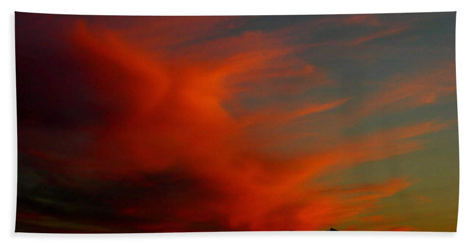 Sunsets Bath Sheet featuring the photograph June 29 2010 by Mark Gilman