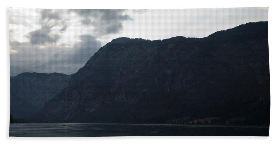 Bohinj Hand Towel featuring the photograph Lake Bohinj At Dusk by Ian Middleton