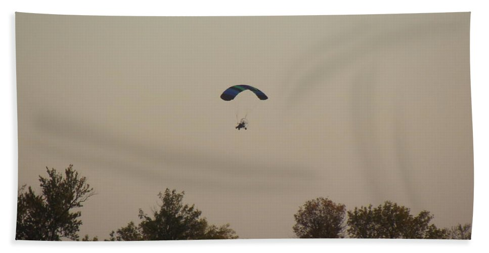 Paraplane Hand Towel featuring the photograph Learning To Fly by Bonfire Photography