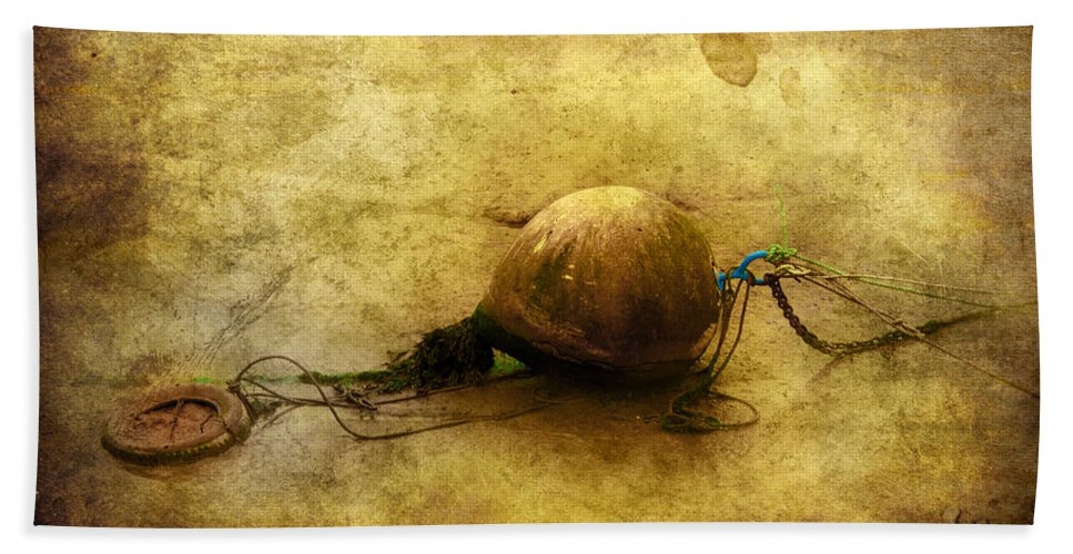 Anchored Bath Sheet featuring the digital art Left Behind by Svetlana Sewell