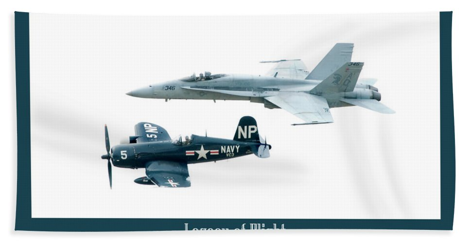 Airshow Hand Towel featuring the photograph Legacy Of Flight by Greg Fortier