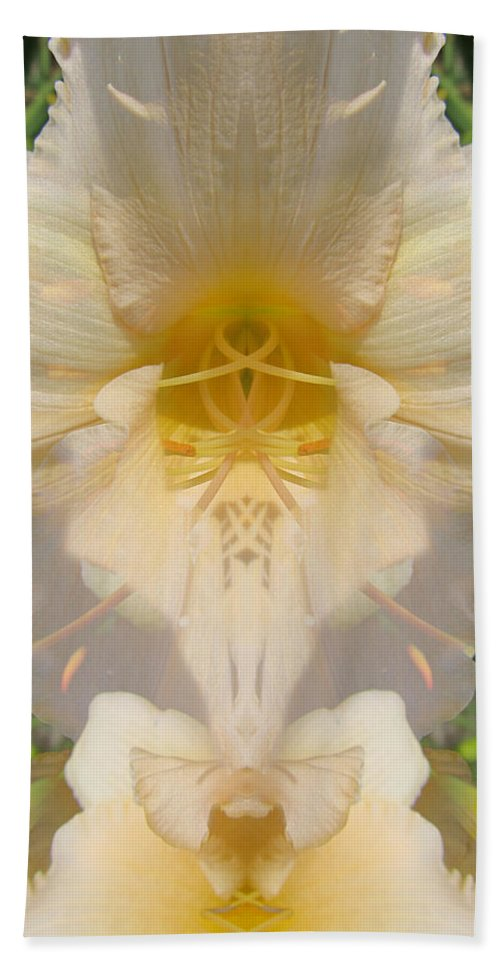 Color Blend Bath Sheet featuring the digital art Lily Fantasy by Michele Caporaso