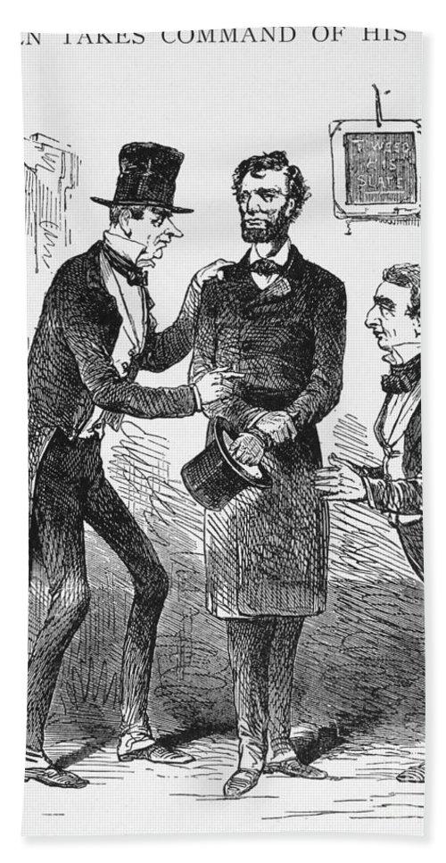 Lincoln Cartoon 1860 Bath Towel For Sale By Granger