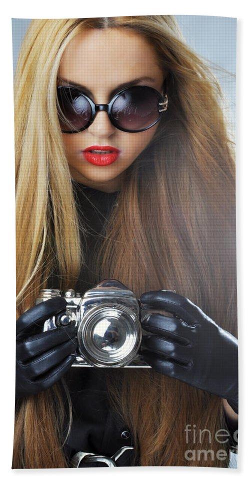 Yhun Suarez Bath Sheet featuring the photograph Liuda10 by Yhun Suarez