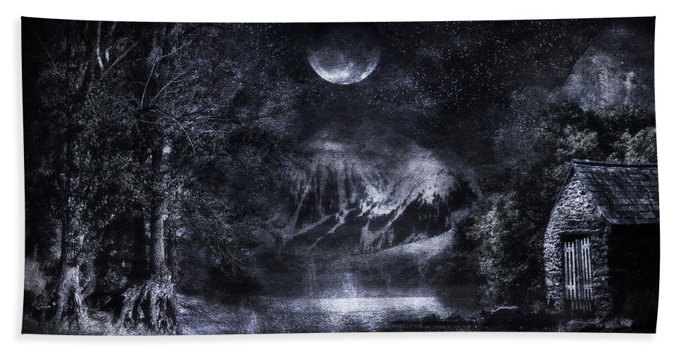 Art Hand Towel featuring the digital art Magical Night by Svetlana Sewell