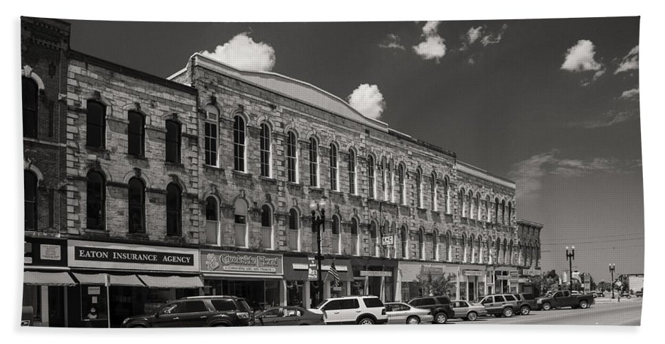 Buildings Bath Sheet featuring the photograph Main Street Usa by Guy Whiteley