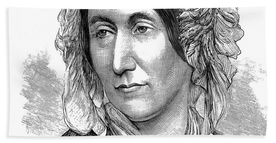 Science Hand Towel featuring the photograph Mary Somerville, Scottish Polymath by Science Source