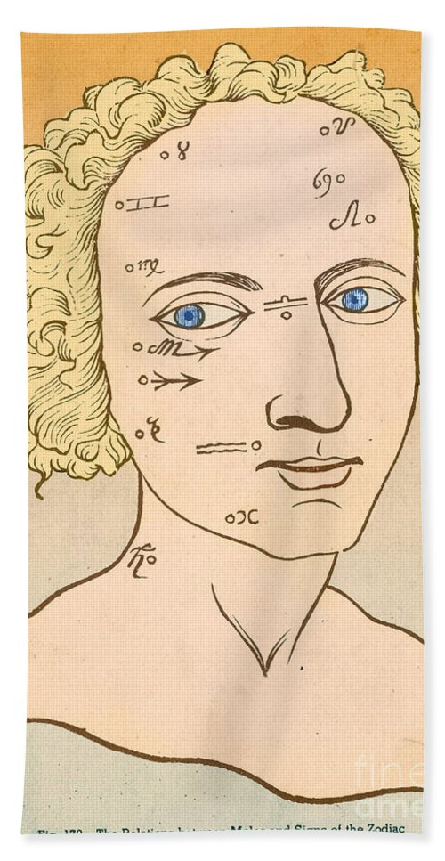 Metoposcopia Hand Towel featuring the photograph Metoposcopy, 17th Century by Science Source