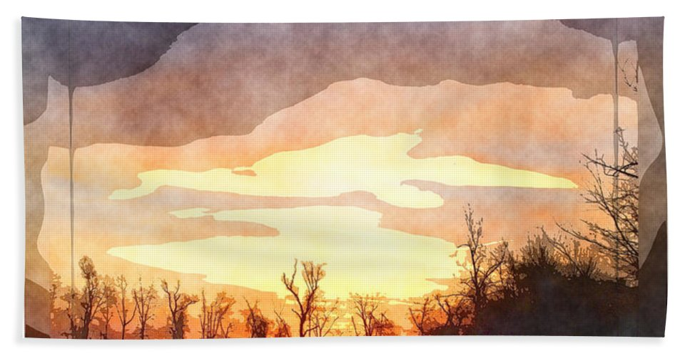 Nature Bath Sheet featuring the digital art Mild Morning II by Debbie Portwood