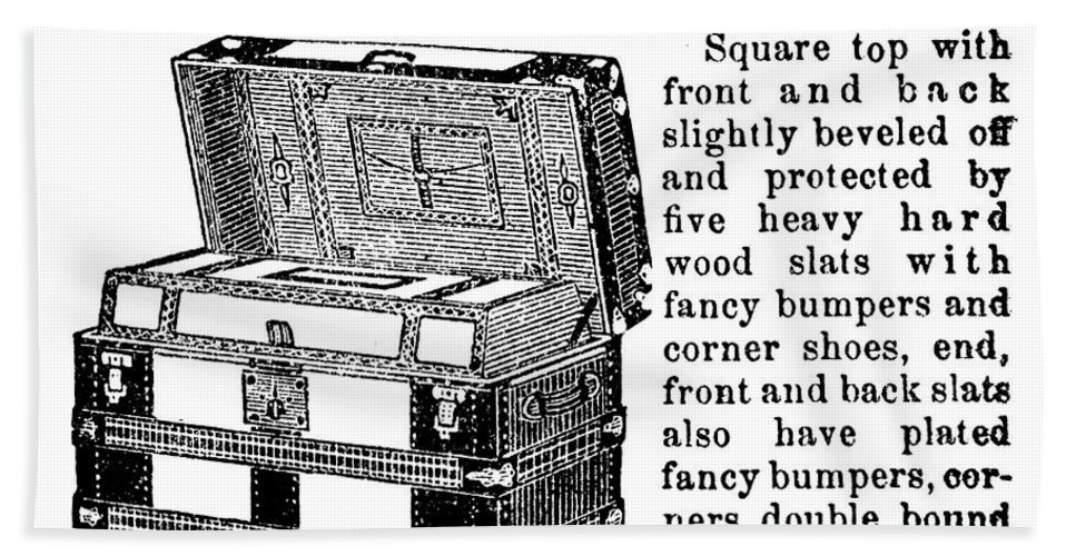 1899 Hand Towel featuring the photograph Montgomery Ward: Chest by Granger