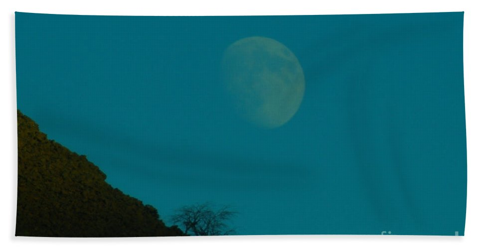 Moon Hand Towel featuring the photograph Moon by Jeff Swan