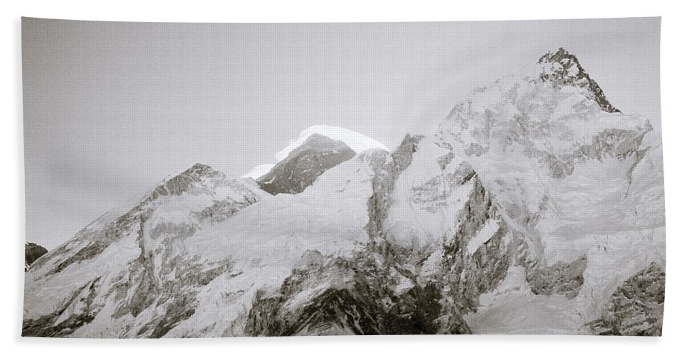 Mount Everest Hand Towel featuring the photograph Mount Everest by Shaun Higson