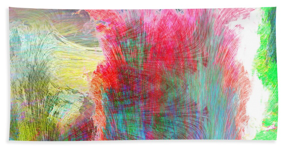 Movement Hand Towel featuring the painting Movement by Christopher Gaston