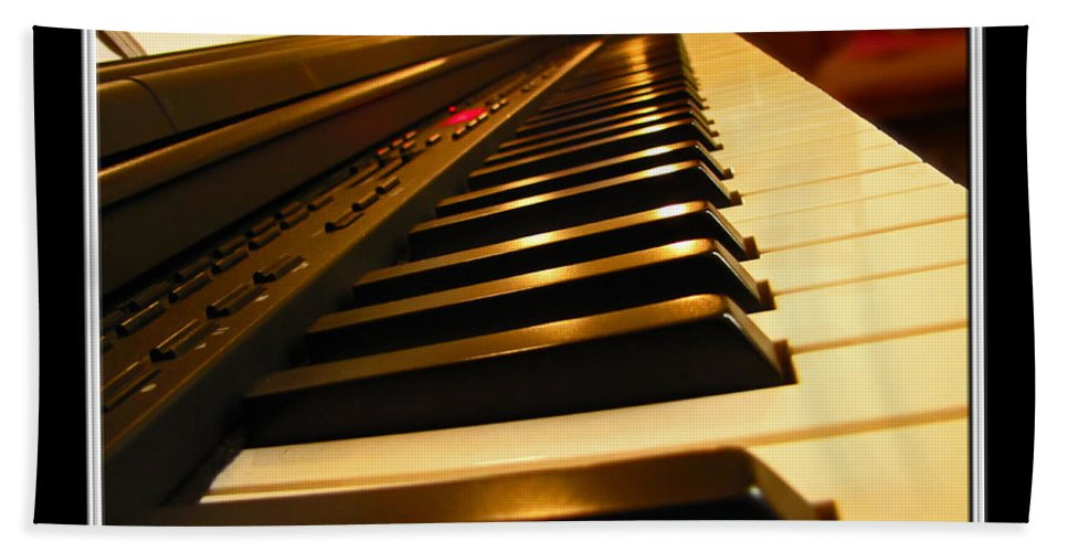 Piano Bath Sheet featuring the photograph My Sunday Seat by Debbie Portwood