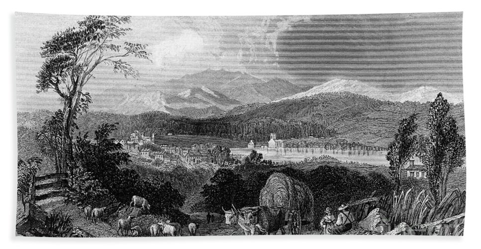 1839 Hand Towel featuring the photograph New Hampshire, 1839 by Granger