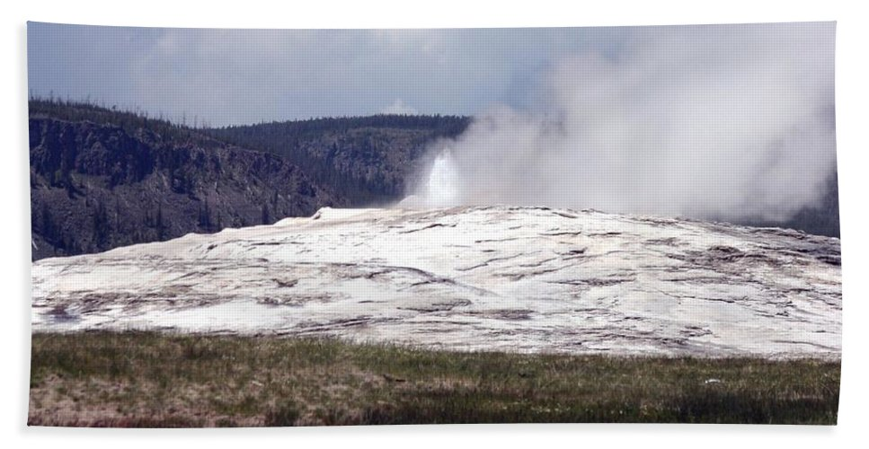 Old Faithful Hand Towel featuring the photograph Old Faithful by Living Color Photography Lorraine Lynch