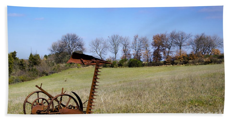 Plow Bath Sheet featuring the photograph Old Plow by Mats Silvan