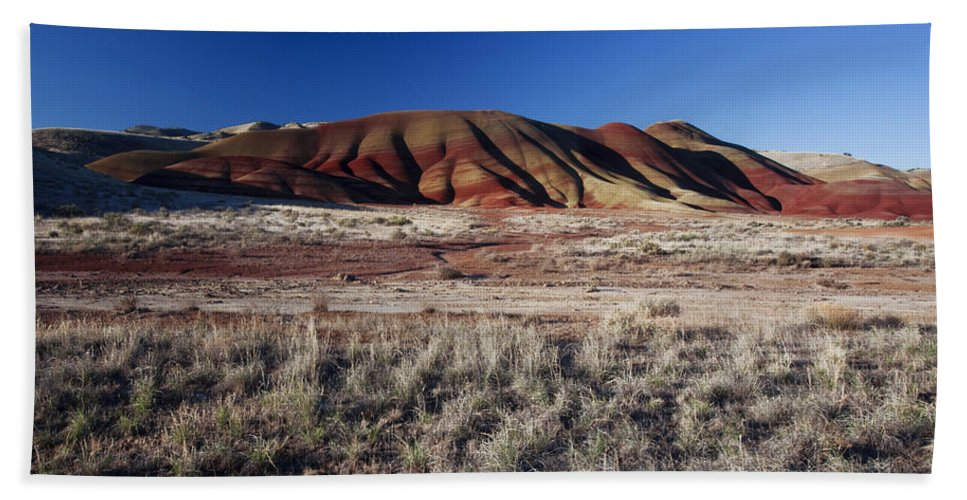 Nature Bath Sheet featuring the photograph Painted Hills by Karen Ulvestad