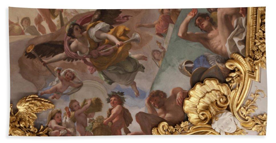 Madrid Bath Sheet featuring the photograph Palace Ceiling Detail by Lorraine Devon Wilke