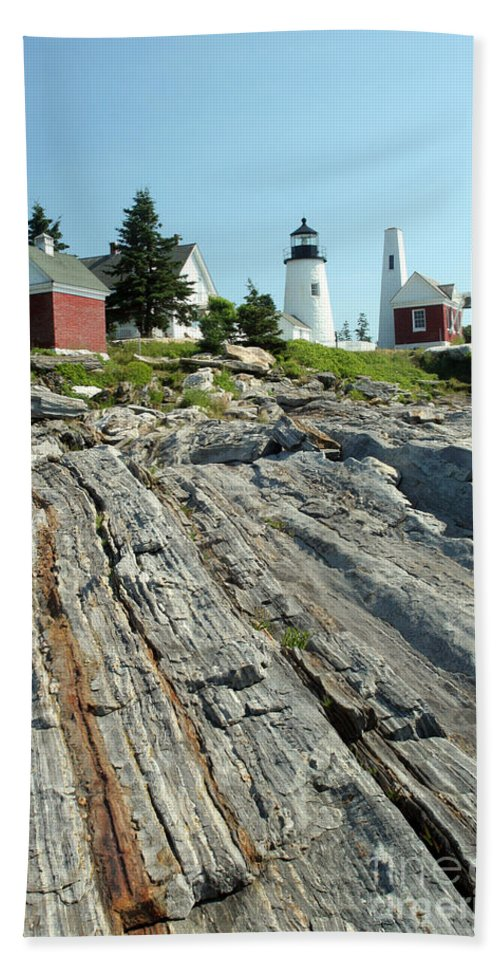 Pemaquid Point Light Hand Towel featuring the photograph Pemaquid Point Lighthouse by Ted Kinsman
