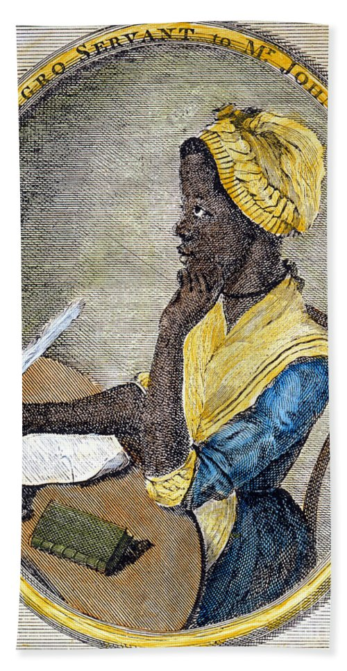 1773 Hand Towel featuring the photograph Phillis Wheatley by Granger
