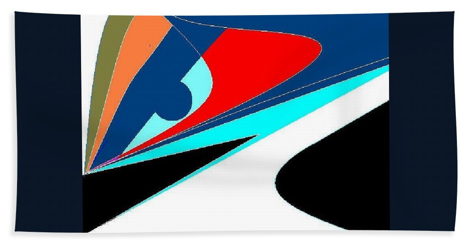 Abstract Art Bath Sheet featuring the digital art Picosso by Enriquemontana Garcia