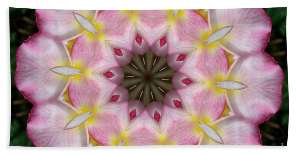 Kaleidoscope Hand Towel featuring the photograph Plumeria 2 by Mark Gilman