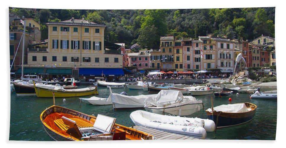 Portofino Bath Sheet featuring the photograph Portofino In The Italian Riviera In Liguria Italy by David Smith