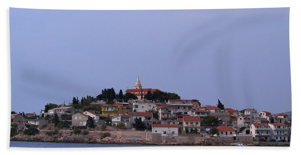 2012 Hand Towel featuring the photograph Primosten by Jouko Lehto
