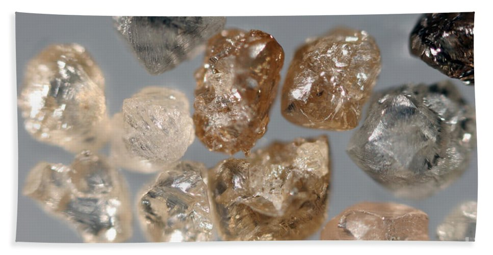 Carbon Hand Towel featuring the photograph Raw Diamonds by Ted Kinsman