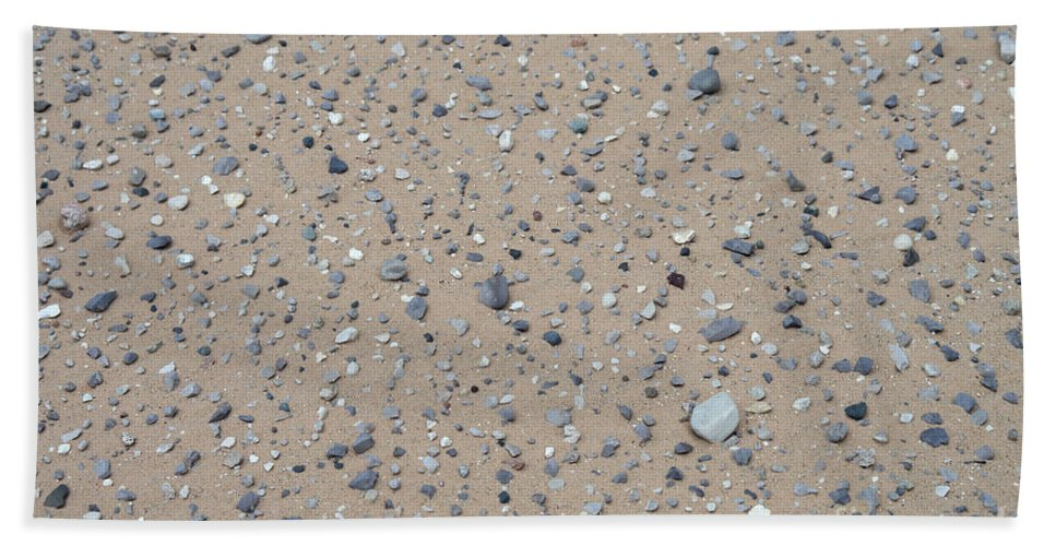 Sand Hand Towel featuring the photograph Rocks Sorted By The Wind by Ted Kinsman