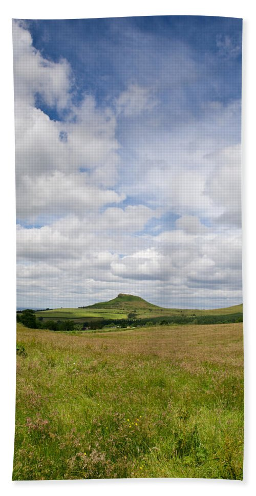 Cleveland Bath Sheet featuring the photograph Roseberry Topping by Gary Eason
