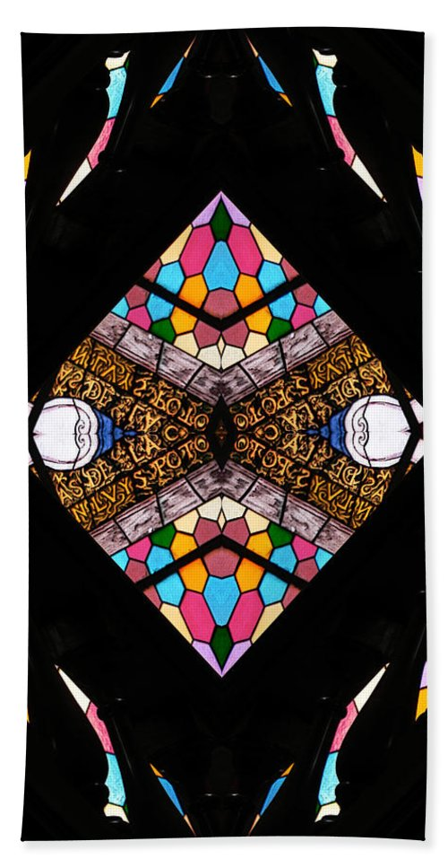 Stained Glass Hand Towel featuring the photograph Sacred by Jesus Nicolas Castanon